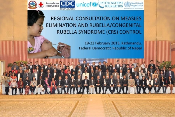 Regional Consultation on Measles Elimination And Rubella Control